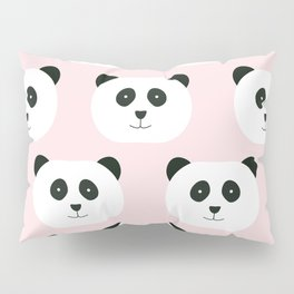 Panda Love -Pink Pillow Sham