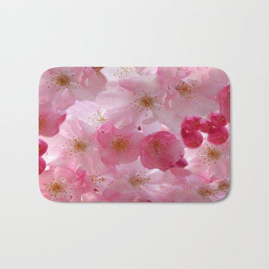 Delicate Cherry Blossoms Bath Mat