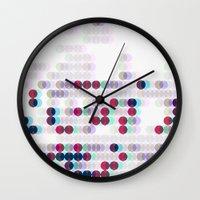 polkadot Wall Clocks featuring 3D Polkadot by James K