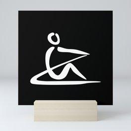 Rowing Logo 1 white Mini Art Print