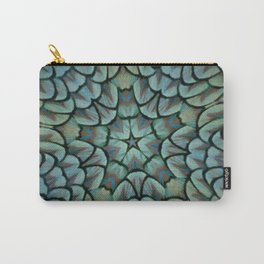 Classic Peacock Feather Kaleidoscope  Carry-All Pouch