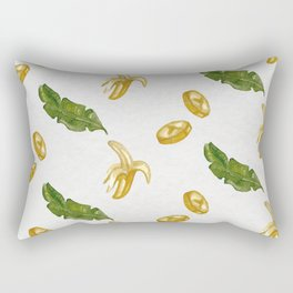Banana watercolor pattern Rectangular Pillow