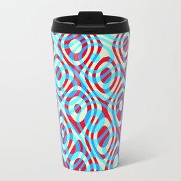 Mixed Polyps Red Blue - Coral Reef Series 035 Travel Mug
