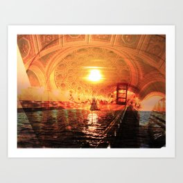 sailing architecture Art Print