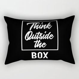 Think Outside the BOX | Art Saying Quotes Rectangular Pillow