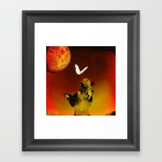 The bear and the butterfly Framed Art Print