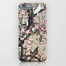 Ito Jakuchu - Peach tree and Birds - Digital Remastered Edition iPhone Case