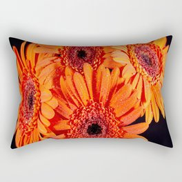 Orange Gerber Daisies Rectangular Pillow