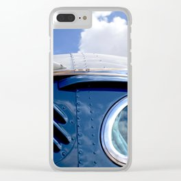 VINTAGE - Cool Vintage Classic Blue Bus Clear iPhone Case