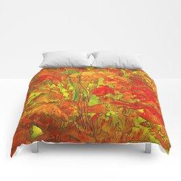 Summer doodle Comforters