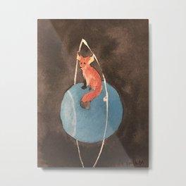 Fox and Uranus Metal Print
