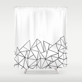 Ab Peaks White Shower Curtain