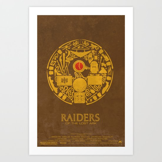 Raiders of the Lost Ark Poster Art Print
