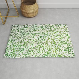 Shades of Green with White Rug
