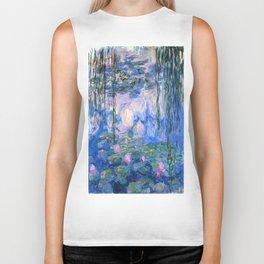 Water Lilies Monet Biker Tank