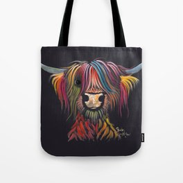 Scottish Highland Cow ' OLIVER ' by Shirley MacArthur Tote Bag
