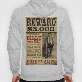 Billy The Kid Mug Shot Wanted Poster Mugshot West Cowboy Vintage Hoody