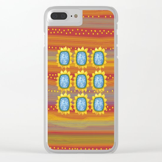 Sunny Flowers II Clear iPhone Case