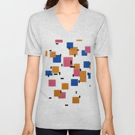 Piet Mondrian - Composition in Color A 1917 Artwork for Wall Art, Prints, Posters, Tshirts, Men, Women, Kids Unisex V-Neck