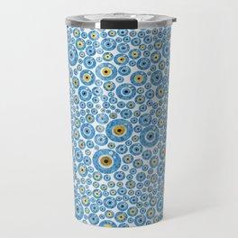 Greek Blue Glass Evil Eye Amulet 1 Travel Mug
