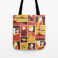 lannister Tote Bags featuring House Lannister by Jack Howse