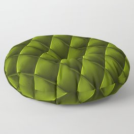 Olive Green Polished Quilted Leather Padding Floor Pillow