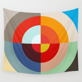 Spring - Colorful Classic Abstract Minimal Retro 70s Style Graphic Design Wall Tapestry