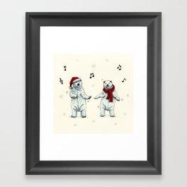 The polar bears wish you a Merry Christmas Framed Art Print