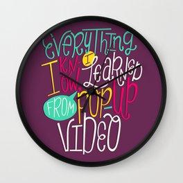 Pop Up Video Wall Clock