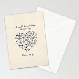 It would be a privilege to have my heart broken by you Stationery Cards