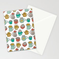 Pattern Project #5 / Cats and Pots Stationery Cards