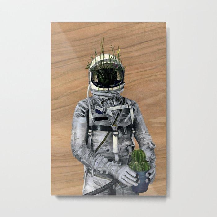 Cacti | Spaceman No:1 Metal Print
