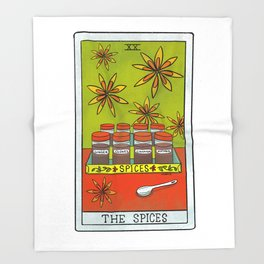 The Spices |Baker's Tarot Throw Blanket