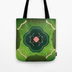 Vintage Tiles Green Tote Bag