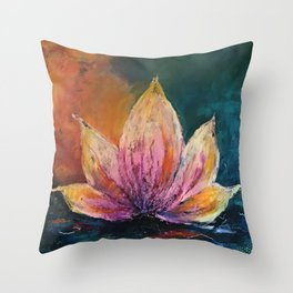 The Lotus House of Love, Peace & Migration Throw Pillow