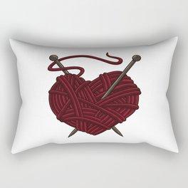 I Love Knitting | Wool Needle Heart Sewing Craft Rectangular Pillow
