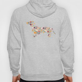 Dachshund - Watercolor/Floral Hoody