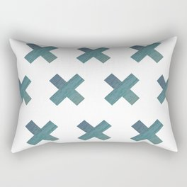 Gradient Water X Rectangular Pillow