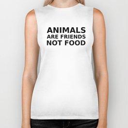 Animals are Friends not Food Biker Tank