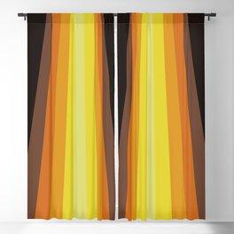 Retro Warm Tone 70's Stripes Blackout Curtain