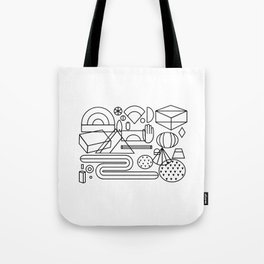 Geometric feast; geometry pattern; geometry illustration;coloring book Tote Bag