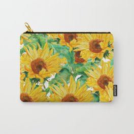 sunflower pattern Carry-All Pouch
