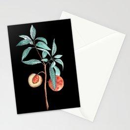 botanical peach Stationery Cards