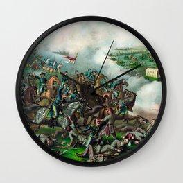 Civil War -- Battle of Five Forks Wall Clock