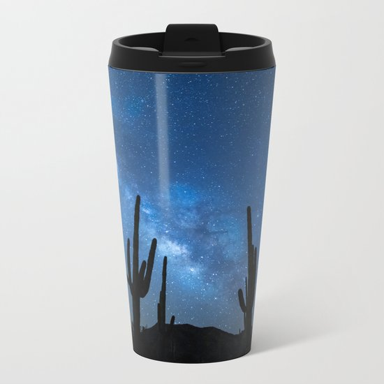 Milky Way, Dreams and Succulents Metal Travel Mug