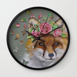 The Butterfly Effect Fox Wall Clock