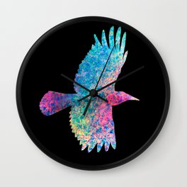 Color crow Wall Clock