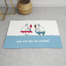 you are my ice-cream! Rug