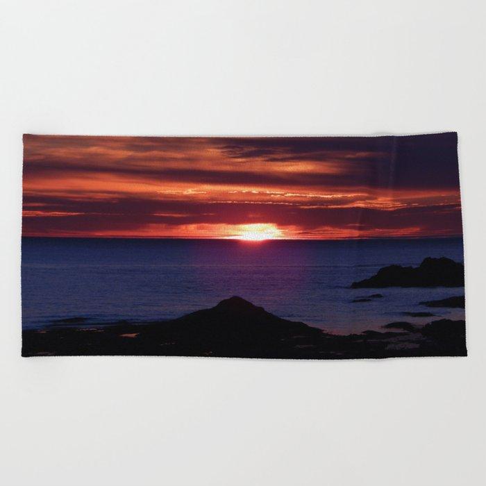 Dawn on the Sea Beach Towel