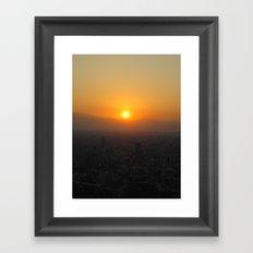 SUNSET @ ROPPONGI Framed Art Print